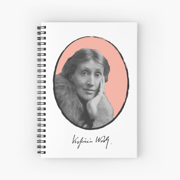 Virginia Woolf Spiral Notebook