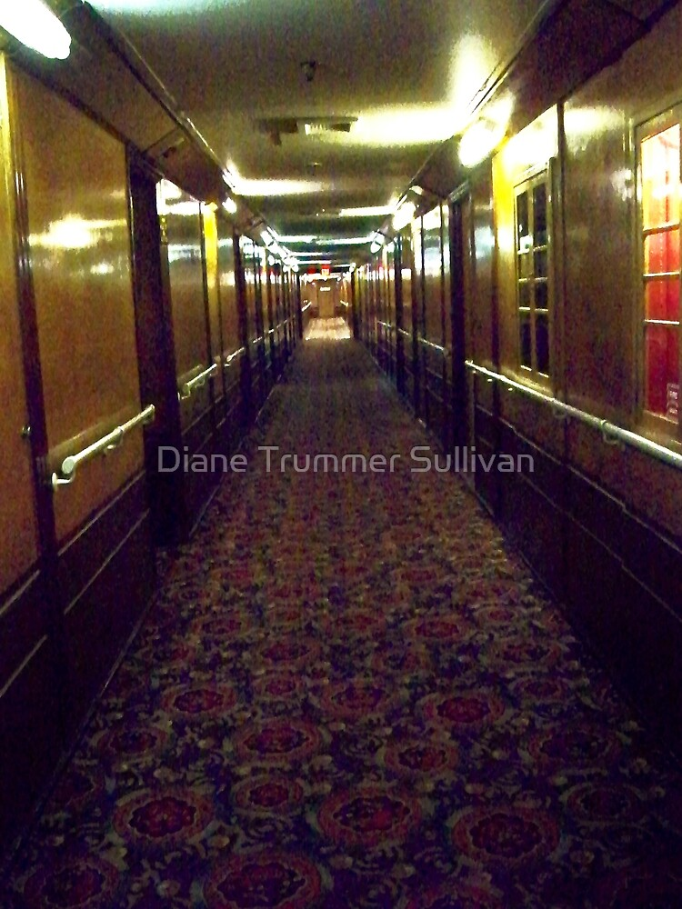 Hallway on the Queen Mary by Diane Trummer Sullivan