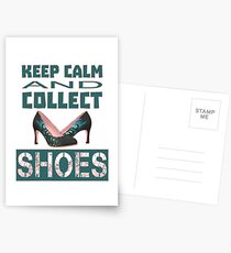 keep calm an collect shoes Postcards