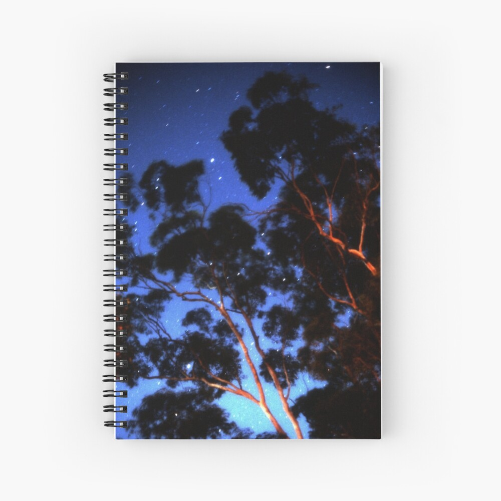 Star trails & eucalypts Spiral Notebook