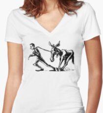 Draggin' Ass Women's Fitted V-Neck T-Shirt