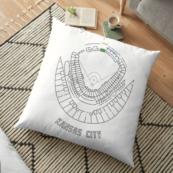 Kauffman Stadium Floor Pillow