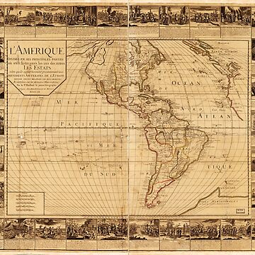 Map of North and South America (1752) by allhistory
