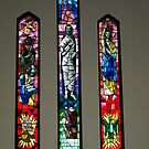 Three Windows of Drouin Anglican Christ Church, Gippsland by Bev Pascoe