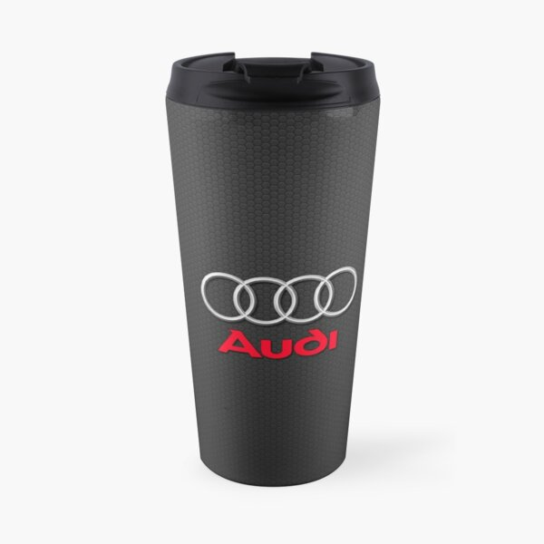 Audi Logo Black Carbon Travel Mug