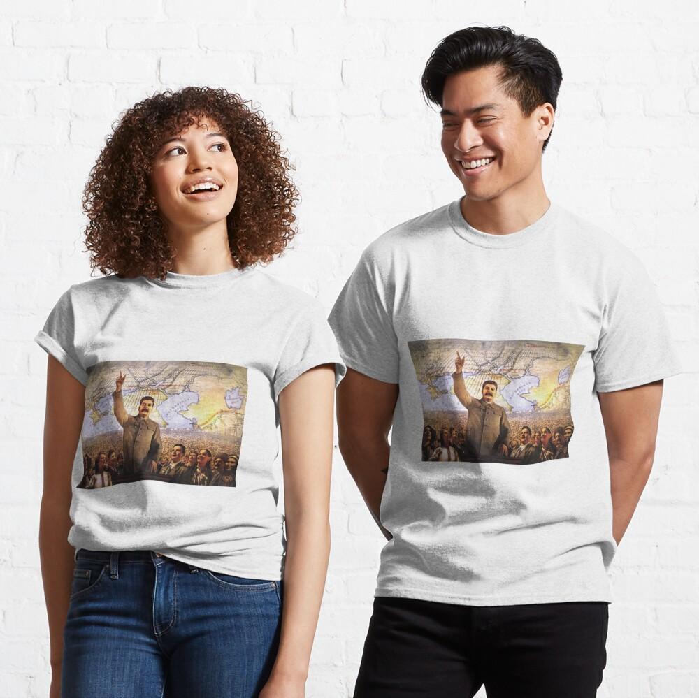 Communism Poster. The Great Plan for the Transformation of Nature, великое преобразование природы, velikoye preobrazovaniye prirody Classic T-Shirt