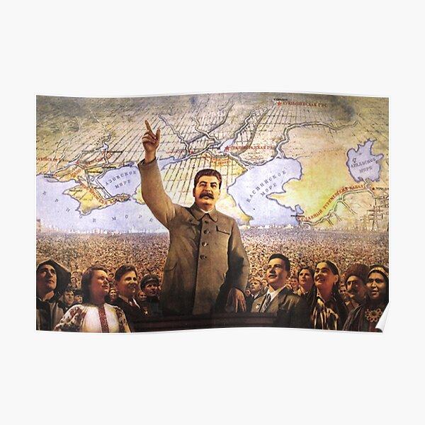 Communism Poster. The Great Plan for the Transformation of Nature, великое преобразование природы, velikoye preobrazovaniye prirody Poster