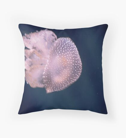 Australian spotted jellyfish, Brilliant natural creation Throw Pillow