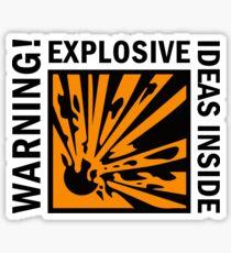 ATTENTION! Des idées explosives à l'intérieur! Sticker