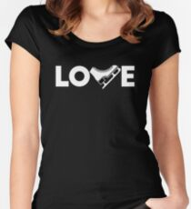 LOVE Ice Skating Women's Fitted Scoop T-Shirt