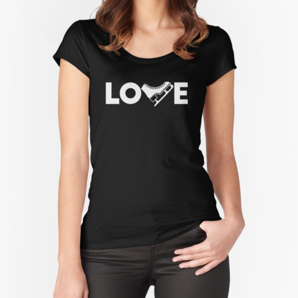 LOVE Ice Skating Fitted Scoop T-Shirt