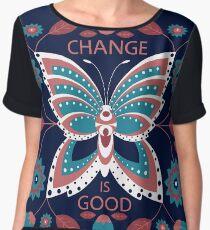 Change is Good - Winter Palette Chiffon Top