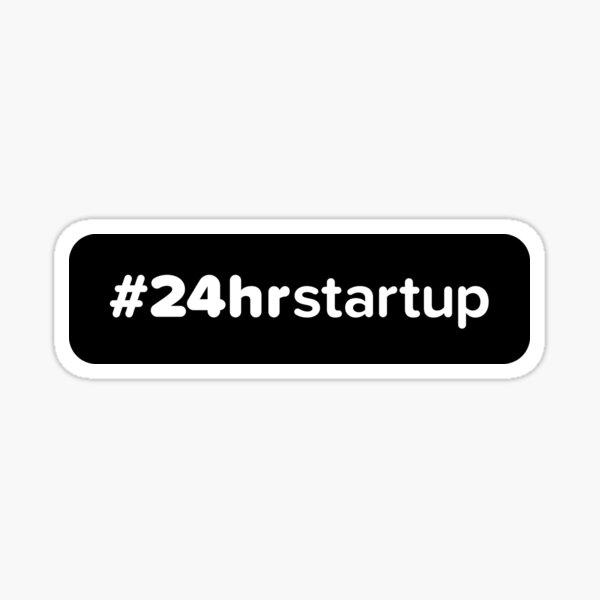The Official #24hrstartup Sticker Sticker