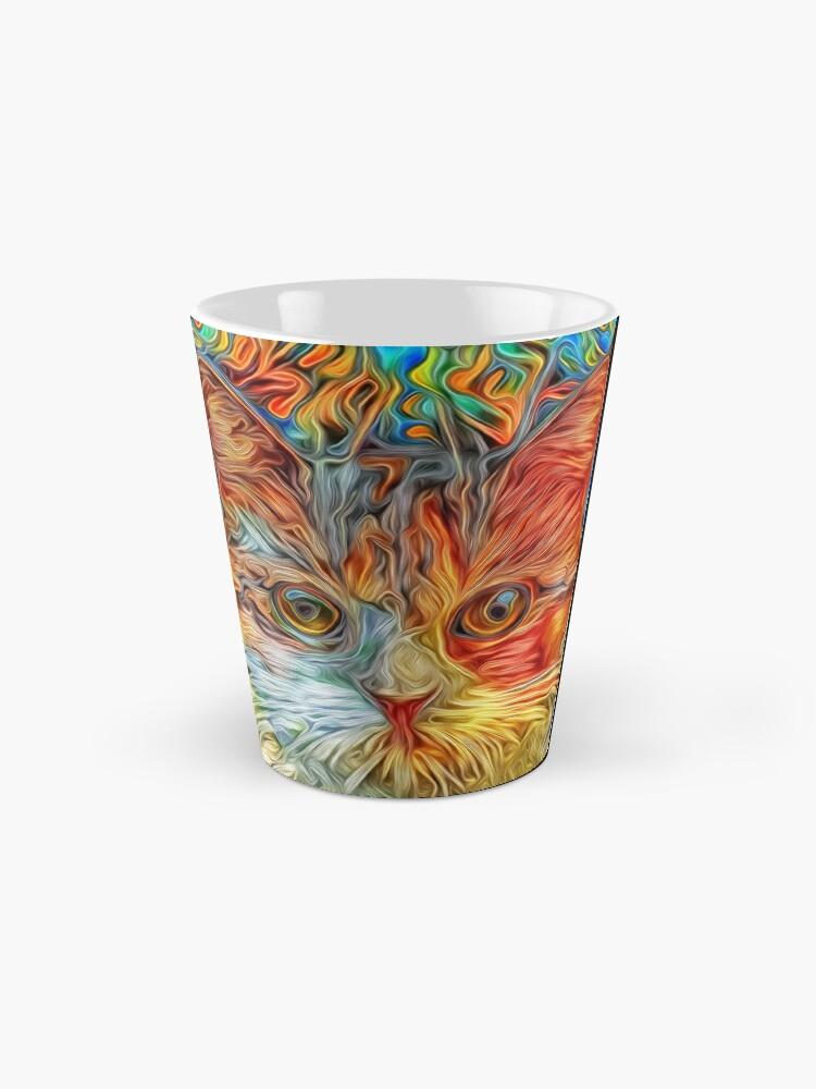 Alternate view of Abstract Cat Mug