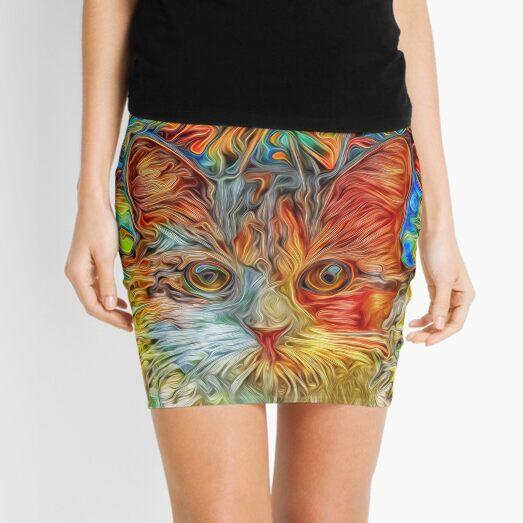 Abstract Cat Mini Skirt