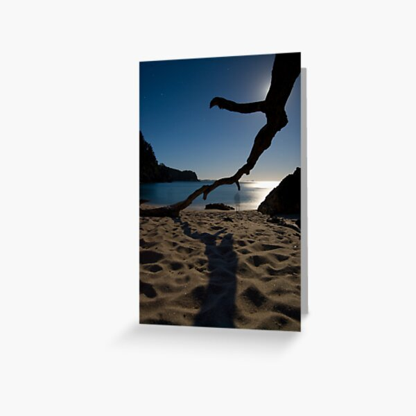 Loneliness of a night photographer. Greeting Card