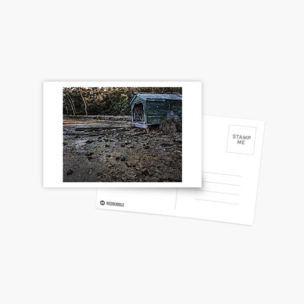 Rusty Green Boatshed Postcard