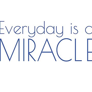Everyday is a miracle by wordznart