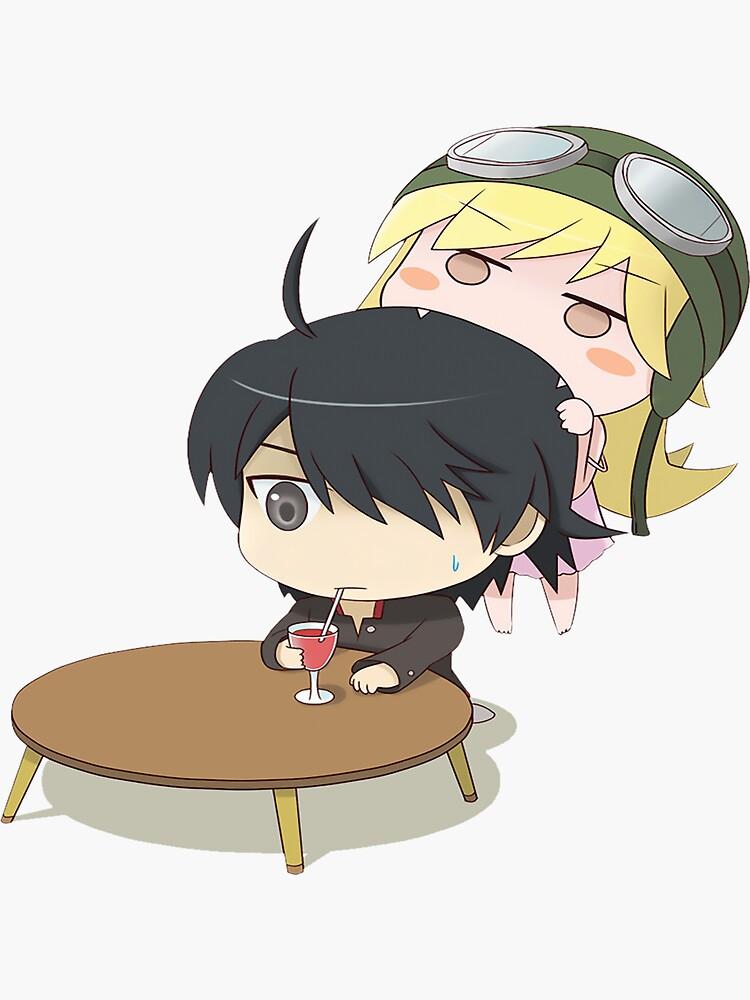 """""""Araragi & Shinobu - Monogatari Series"""" Sticker by ..."""