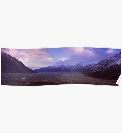 Tasman Valley, Mount Cook National Park Poster