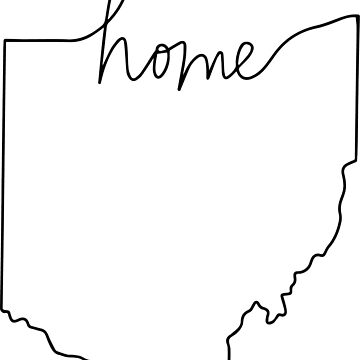 Ohio Home Sticker by racquelgraffeo