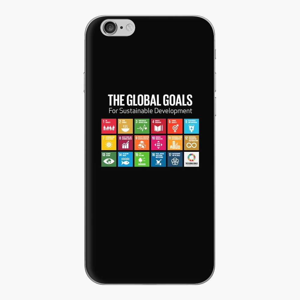 The Global Goals 17 Global Goals Icons Grid Vinilo para iPhone