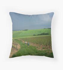 a vast France landscape Throw Pillow