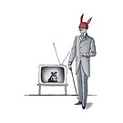 Mr. RED and Dog in TV by Genco Demirer