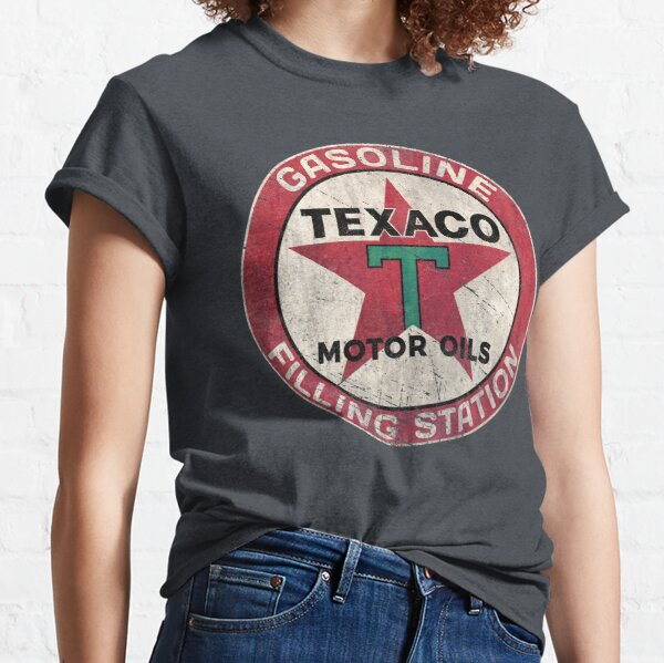 Gasoline Texaco Vintage Emblem V01 Classic T-Shirt