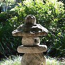 Japanese Stone Garden Statue by HellYeahKate