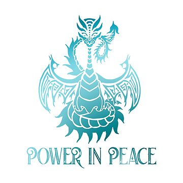 Peace Dragon - Power in Peace by jitterfly