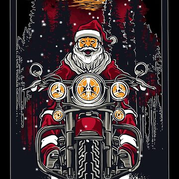 Biker Santa Claus Santa Claus X-Mas by Skullz23