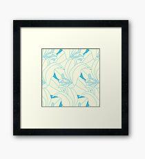 Ice Queen  Flower Flourish Framed Print