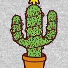 Cactus Christmas Tree in Blue by evannave