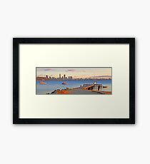 Pelican Point - Perth Western Australia   Framed Print