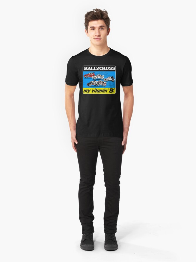 Alternate view of Rallycross my vitamin B Slim Fit T-Shirt