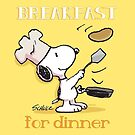 Snoopy - Breakfast for dinner by manzinello