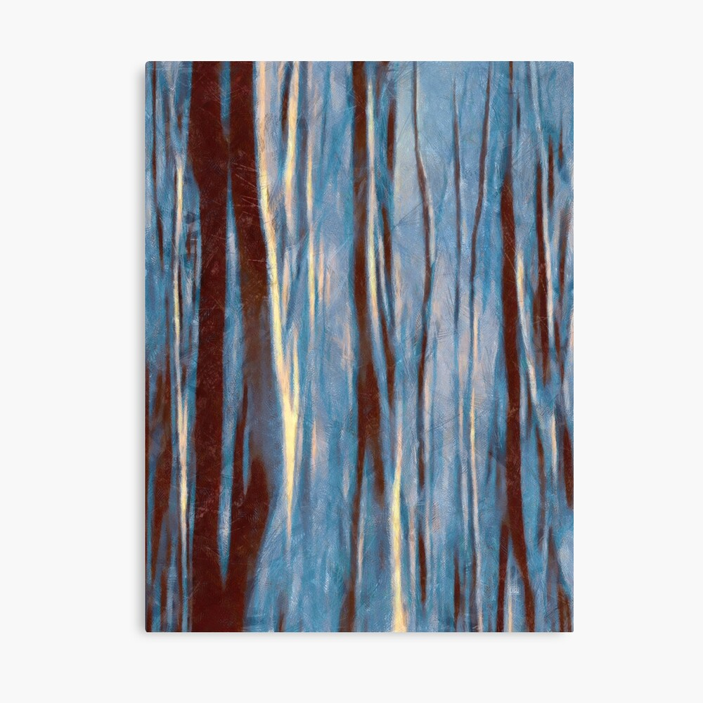 Dawn in the Winter Forest #impressionism #abstract #moods Canvas Print