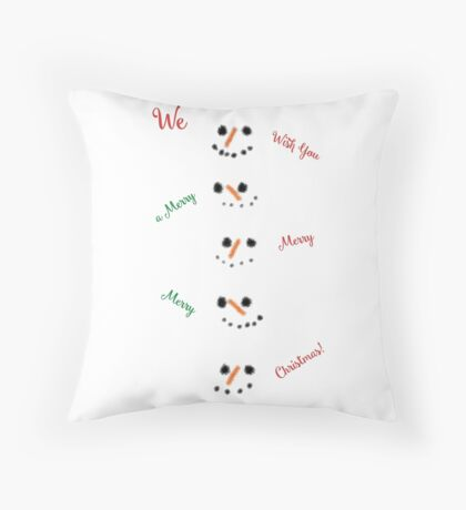 Snowmen in a Snowstorm! Throw Pillow