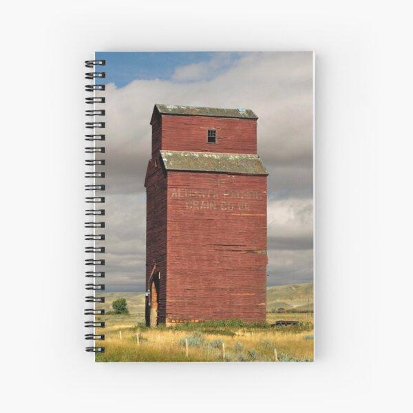 Grain Elevator Dorothy, Alberta Spiral Notebook
