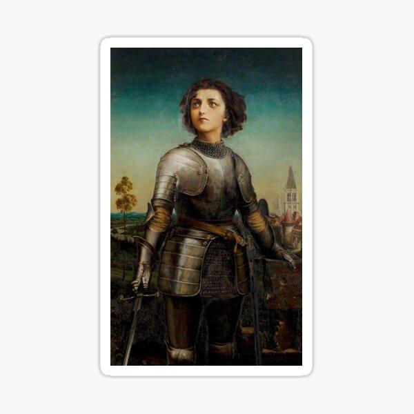 Joan of Arc in Battle Sticker