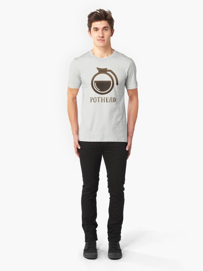 Alternate view of Coffee Lover Coffee Pot Pothead Gift Pothead  Slim Fit T-Shirt