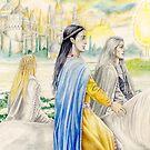 Ingwë, Finwë & Elwë by Peter Xavier Price