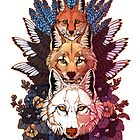 Heraldry Canidae by Kellie Lamphere