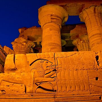 Egypt. Kom Ombo Temple. Twilight. by vadim19