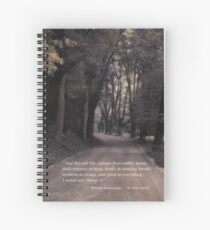 Shakespeare Quote Poster  Spiral Notebook