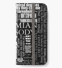 BOHEMIAN RHAPSODY LYRICS iPhone Wallet/Case/Skin