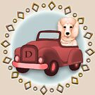 Peach Poddle Dog Driving Car by artmuvz
