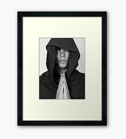 Prayer Time at the Monestary Framed Print