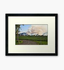 Bush Fire Framed Print